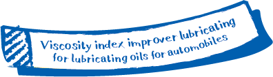 Viscosity index improver for lubricating oils for automobiles
